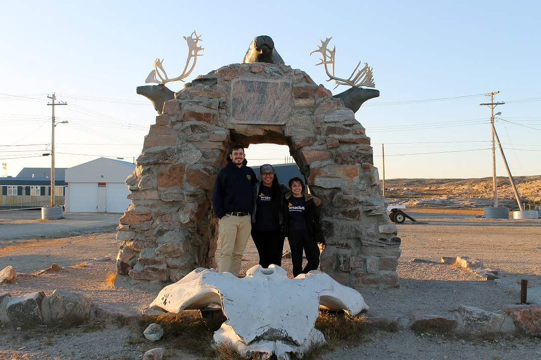 Enactus Team at Arctic Circle Arch