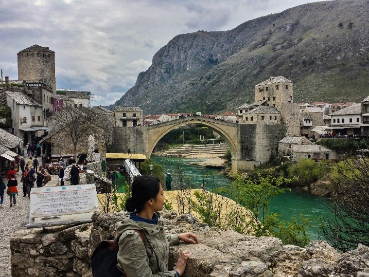 Old Bridge area in Mostar, Bosnia and Herzegovina