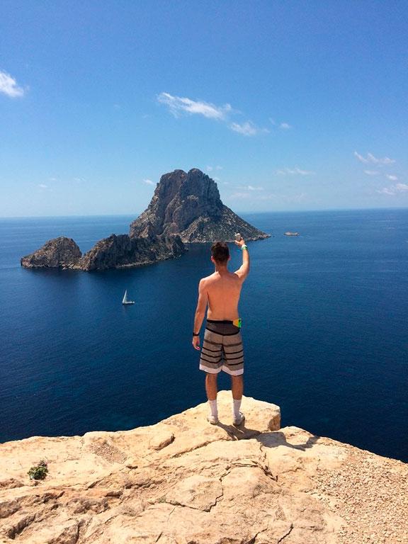 Es Vedrà Rock in Ibiza, Spain