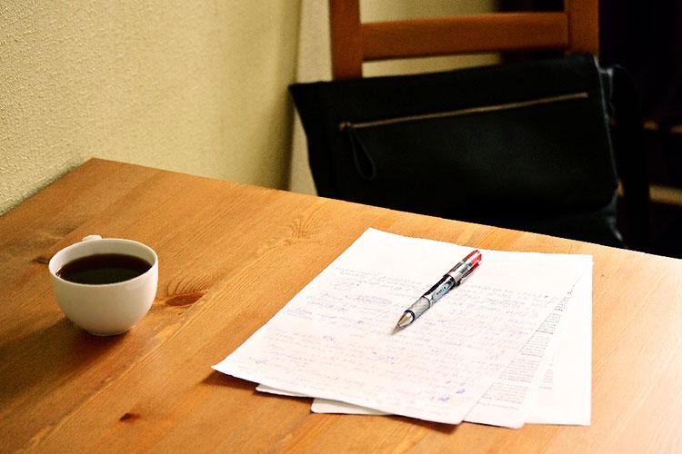 Resume on desk