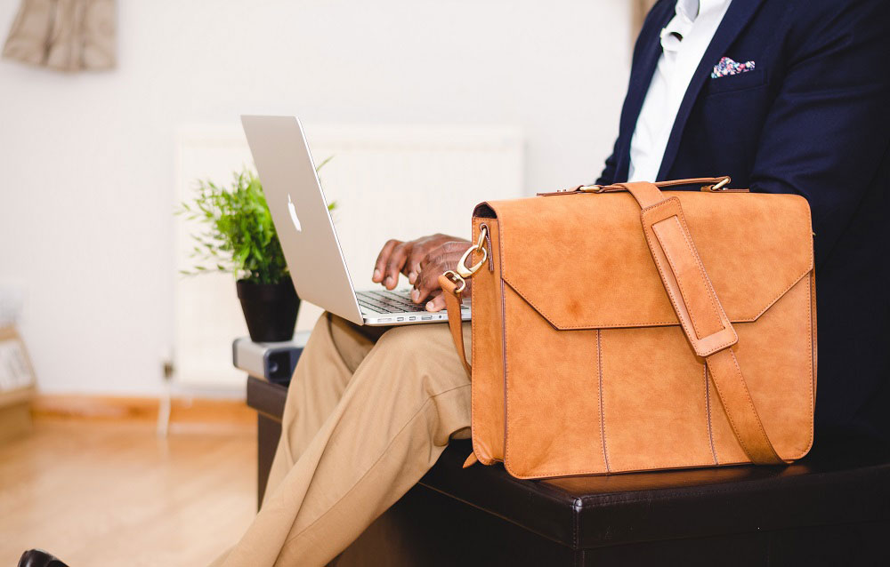 Briefcase and Laptop